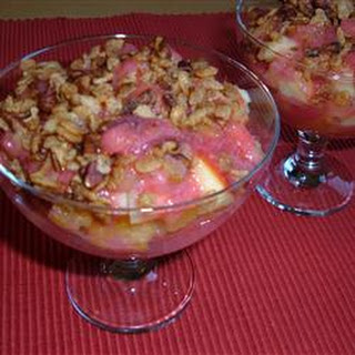 Strawberry-Sauced Crunchy Fruit Salad