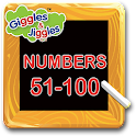Numbers 51-100 for LKG Kids
