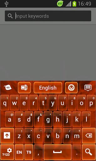 鍵盤深橙色