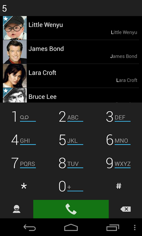 ExDialer Simp for AMOLED Theme - screenshot
