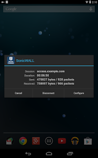 SonicWALL Mobile Connect - screenshot thumbnail