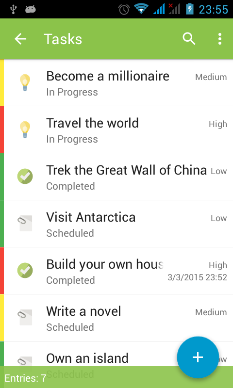 Memento Database - screenshot