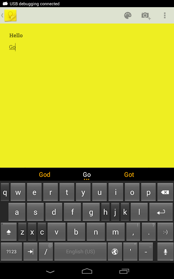 ThickButtons Keyboard- screenshot