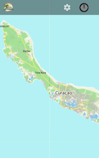 CURAÇAO BONAIRE travel map