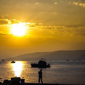 Dabhol Jetty  by Rohan Pavgi - Landscapes Sunsets & Sunrises ( konkan, sillhouete, india, travel, maharashtra,  )