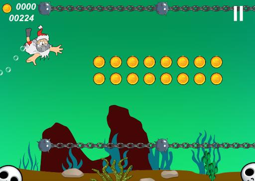 Scuba Santa Underwater