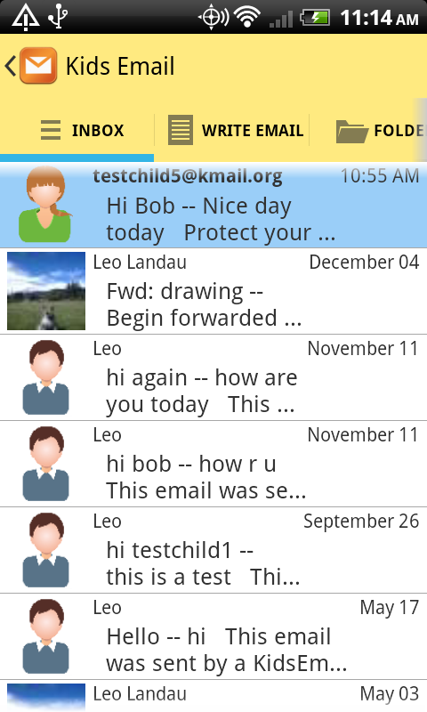 Kids Email - Email for Kids!- screenshot
