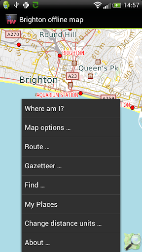 Brighton England offline map