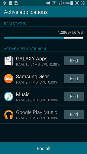 Galaxy S5 Note Task Manager
