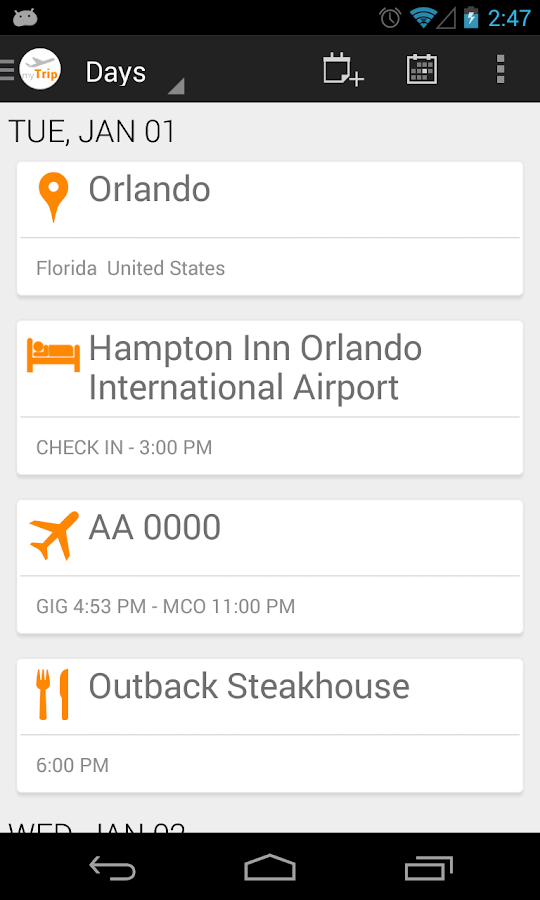 myTrip - Travel Organizer- screenshot