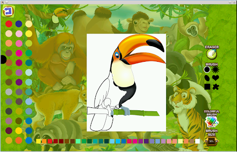 Puzzle coloring Asia Animals- screenshot thumbnail