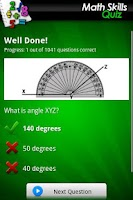 Screenshot of Ultimate Math Skills Quiz