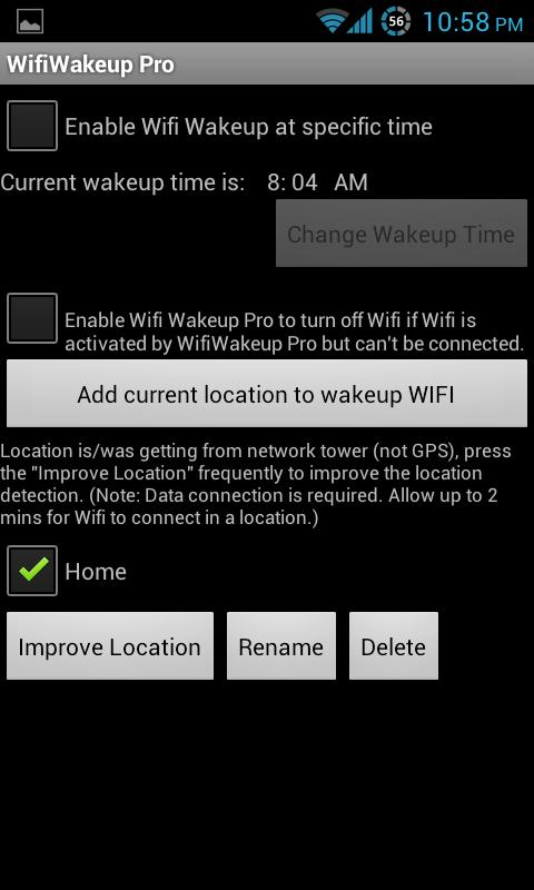 Wifi Wakeup - screenshot