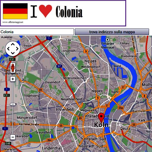 Colonia map