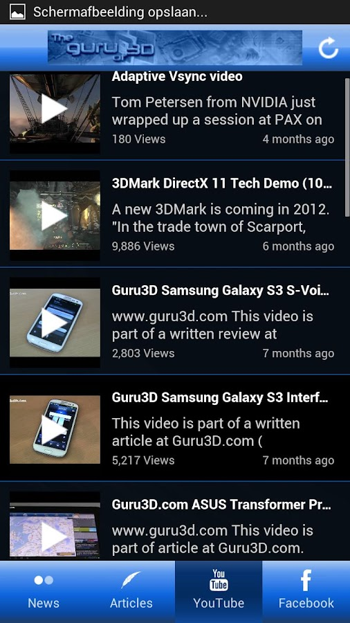 Guru3D.com App: screenshot