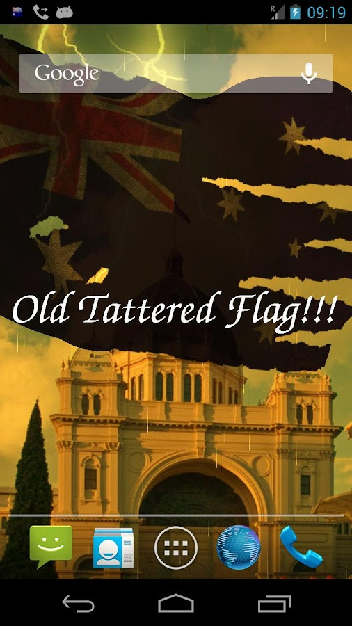 3D Australia Flag LWP - screenshot