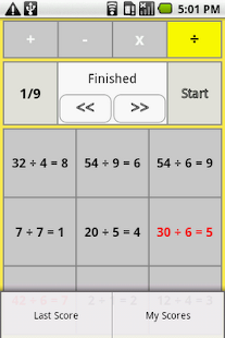 one digit arithmetic- screenshot thumbnail