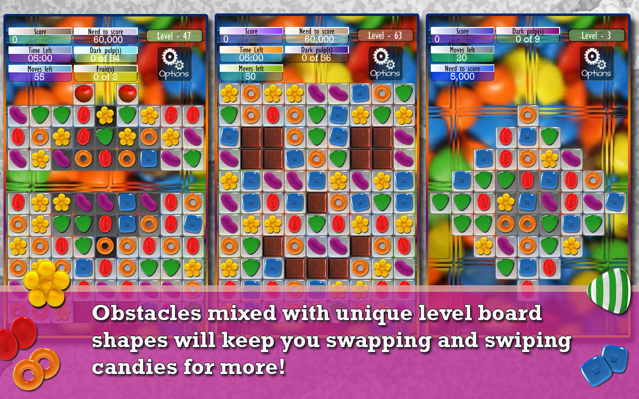 Candy Game -Match three puzzle- screenshot