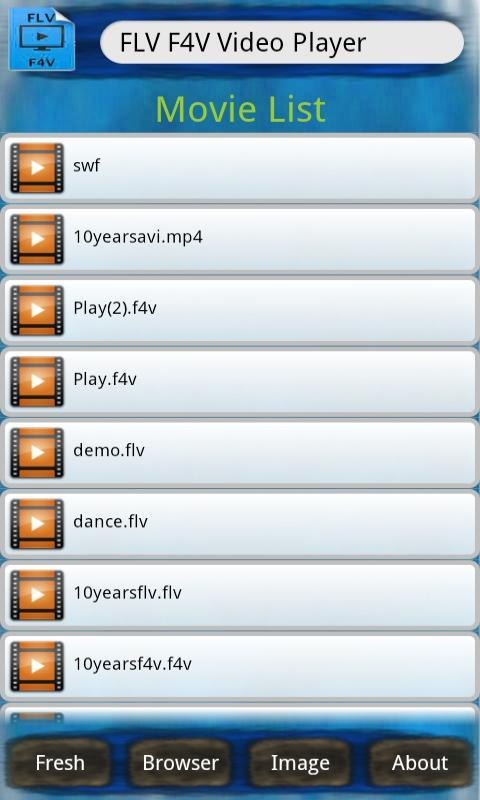 FLV F4V Video Player - screenshot
