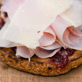 Ham and Parmesan Sandwiches with Raspberry Jam.