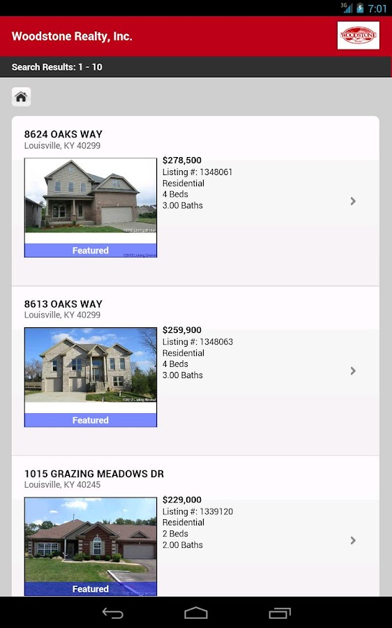 Louisville Home Search- screenshot