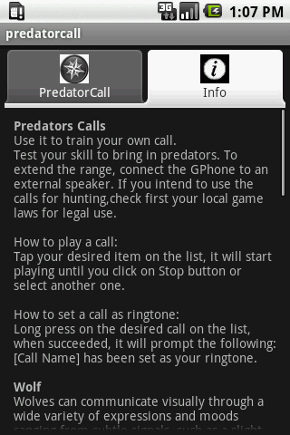 Predator Calls- screenshot