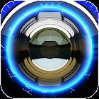 Blue Glow Magic Clock Widget icon