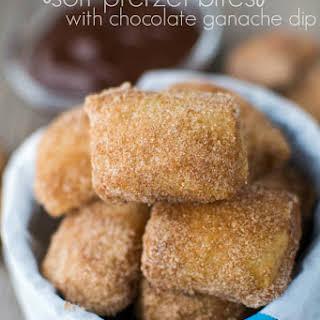 Easy Cinnamon Sugar Soft Pretzel Bites.