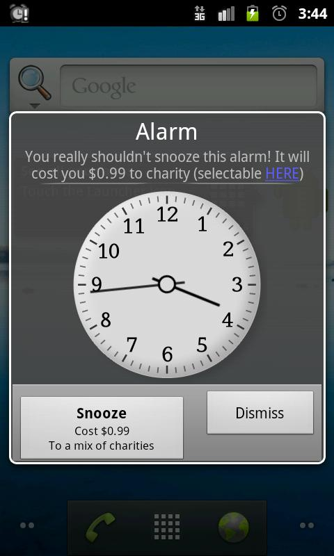 Charity Alarm - Pay to Snooze - screenshot