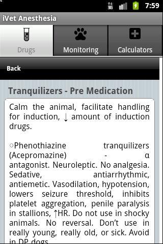 Vet Anesthesia Guide: captura de tela