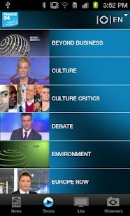 FRANCE 24 for Android - screenshot thumbnail