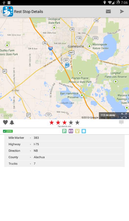 USA Rest Stop Locator - screenshot