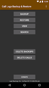 Call Logs Backup & Restore - screenshot thumbnail