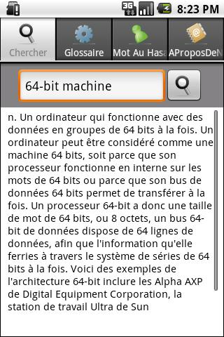French IT &Computer Dictionary - screenshot