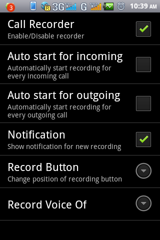Call Recorder Live - screenshot