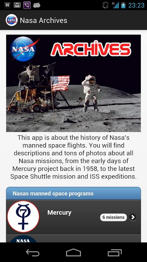 Nasa Archives- screenshot