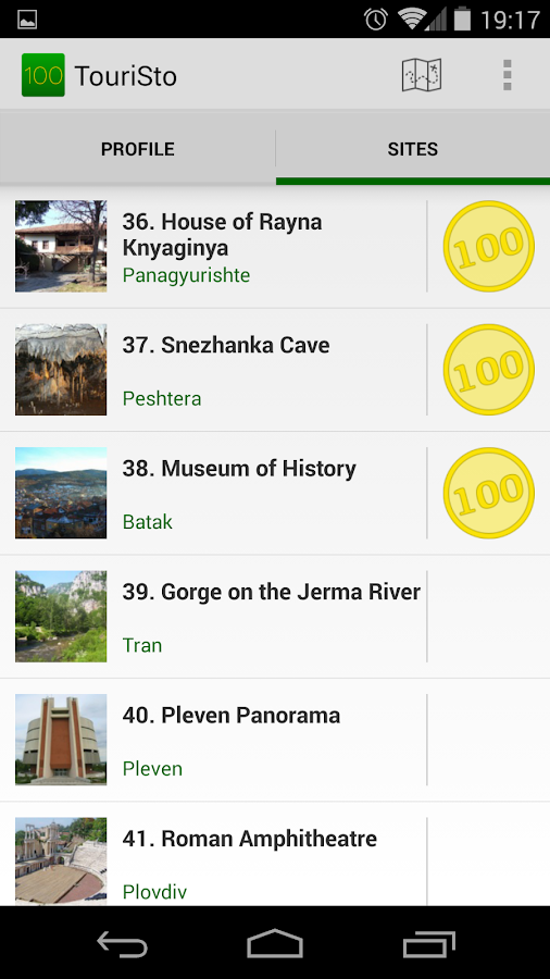 TouriSto - 100 Tourist Sites- screenshot