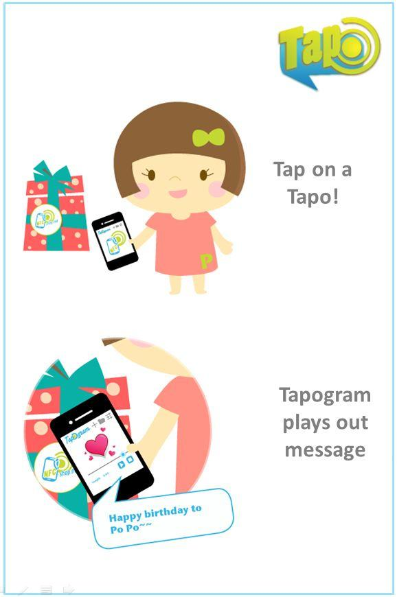 Tapogram, Voice on NFC - screenshot
