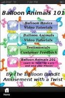 Screenshot of Balloon Animals 101