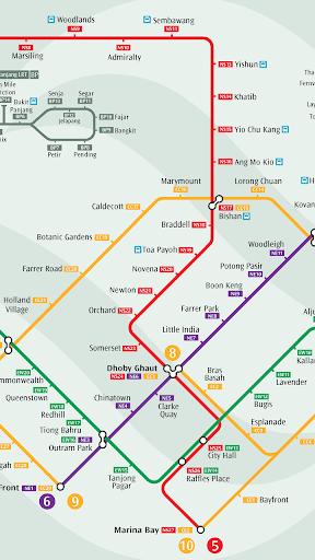新加坡地鐵路線圖