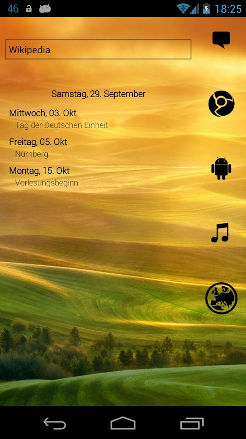 Simple Calendar Widget - screenshot