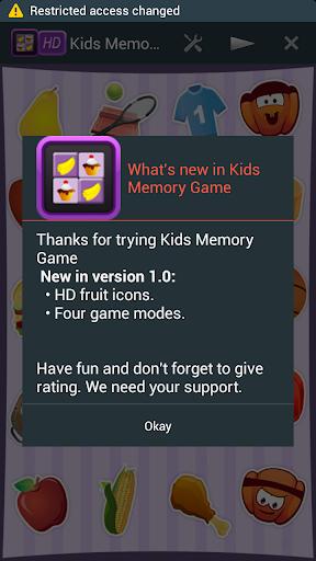 Galaxy S5 Kids Memory Game