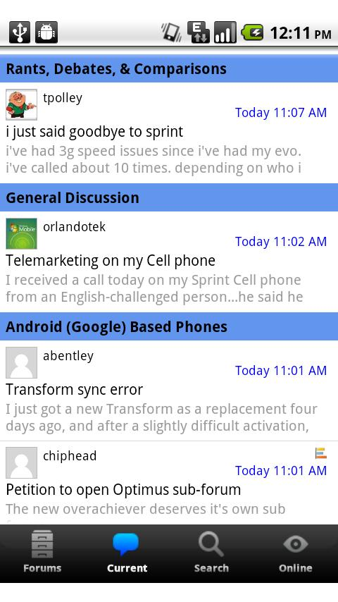 Sprint Users Forum - screenshot