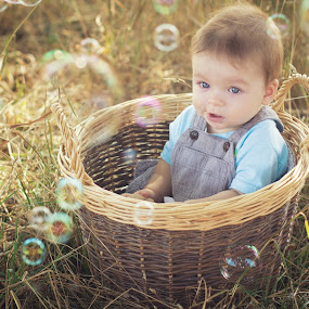 Bubbles by Diána Barócsi - Babies & Children Toddlers ( child, basket, bubbles, baby, toddler, natural, boy, babyboy )
