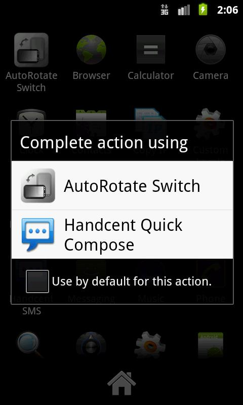AutoRotate Switch - screenshot
