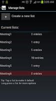 Screenshot of Mailing List