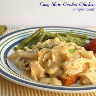Easy Slow Cooker Chicken and Gravy