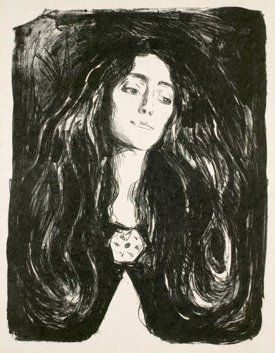 Image result for Edvard Munch  Eva Mudocci, 1903.