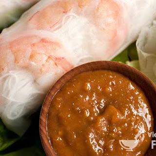 Vietnamese-Style Summer Rolls with Peanut Sauce