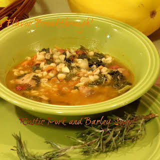 Rustic Pork and Barley Soup!.